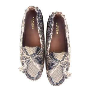 COACH Snakeskin Leather Driving Loafer NEW Sz7